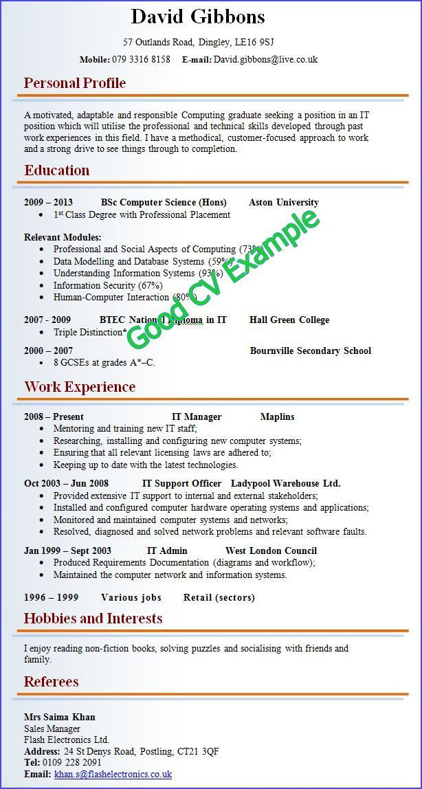 The 25+ best Good cv ideas on Pinterest | Good cv format, Good cv ...