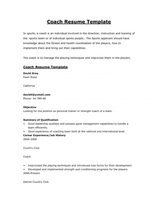 life coach resume high school football coach sample resume