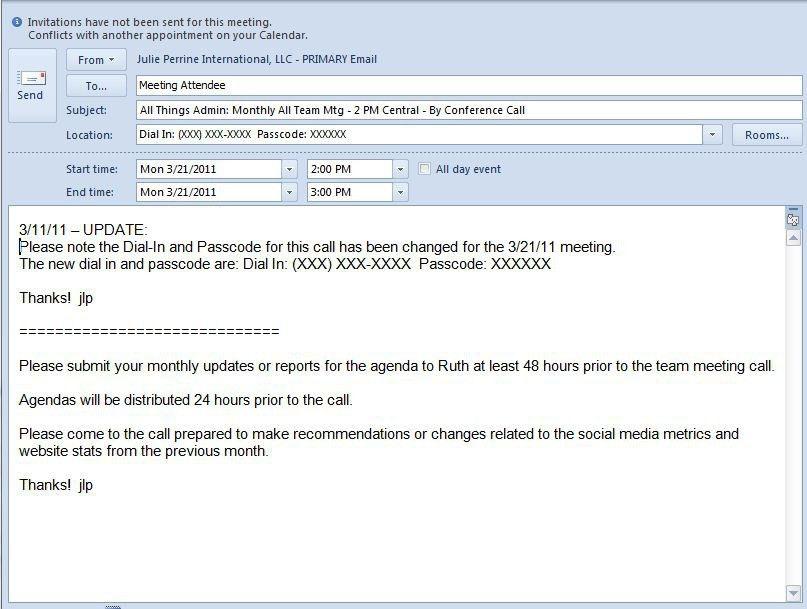 Email Template For Meeting Invitation | almsignatureevents.com
