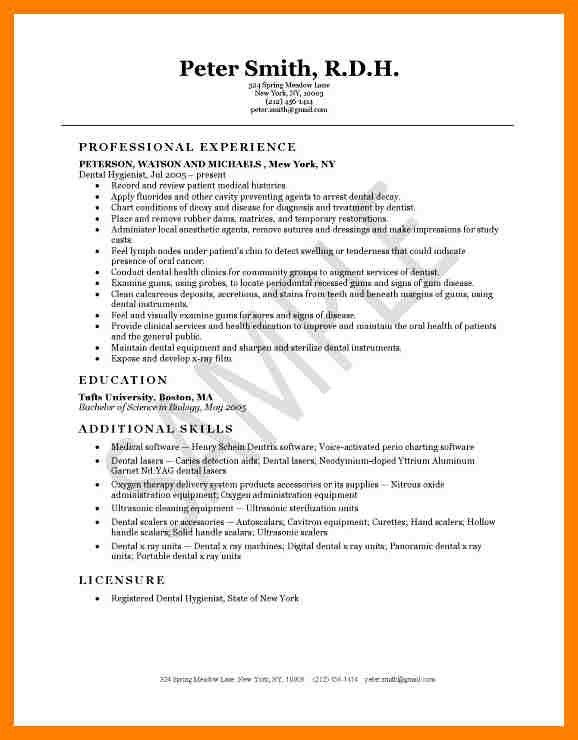 8+ dental hygienist resume sample | packaging clerks