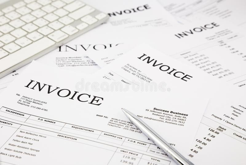 Invoices And Bills Stock Photography - Image: 36933562