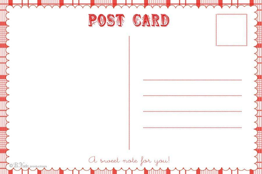 printable postcard templates