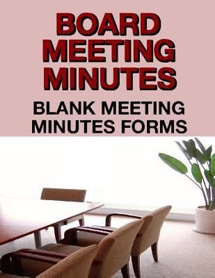 Board Meeting Minutes: Blank Meeting Minutes Forms - Walmart.com