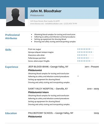 phlebotomy resume sample no experience phlebotomy resume picture ...