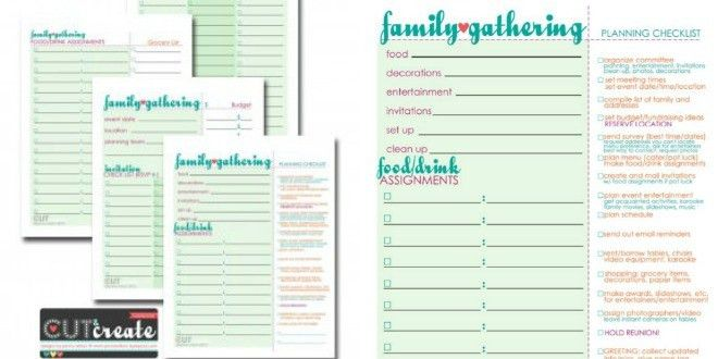 Plan a Family Reunion! {free worksheets} | Tip Junkie