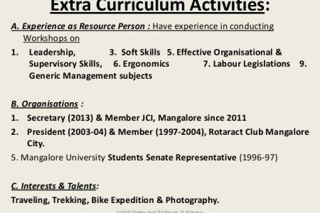 Resume Sample Extracurricular Activities Examples Of Personal .  Extra Curricular Activities For Resume