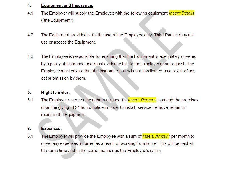 Employment Contract template - Home Worker | The Legal Stop