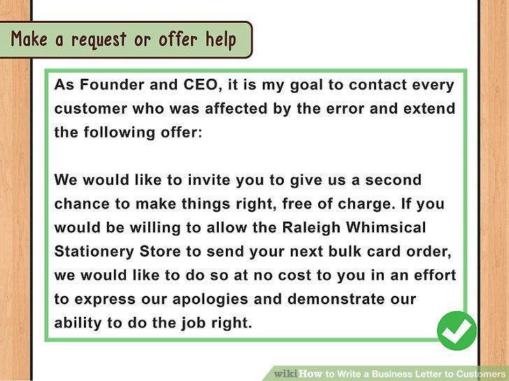 How to Write a Business Letter to Customers (with Sample Letters)