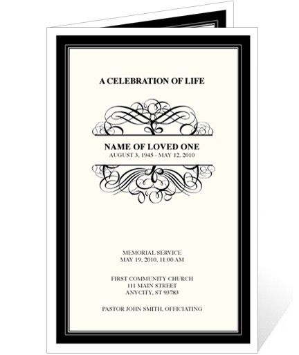 Elegant Monogram Style Memorial Service Programs: Signature ...