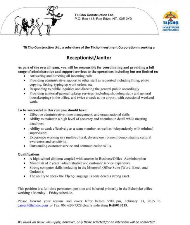 Custodial Supervisor Cover Letter