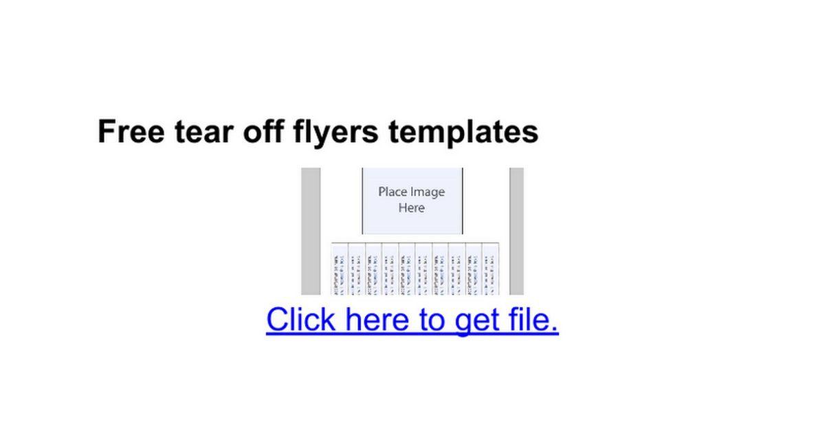 Free tear off flyers templates - Google Docs