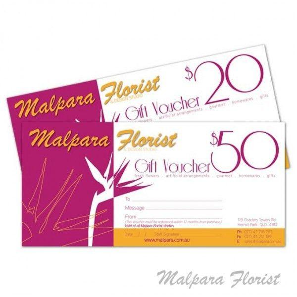 Gift Voucher - Malpara Florist and Design Studio Townsville
