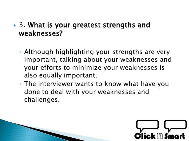 what is your strength and weakness