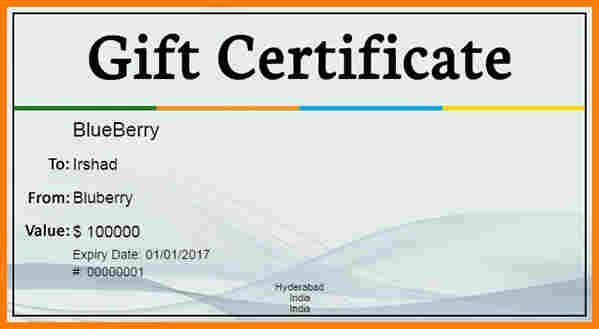 6+ gift certificate template for word | sample of invoice