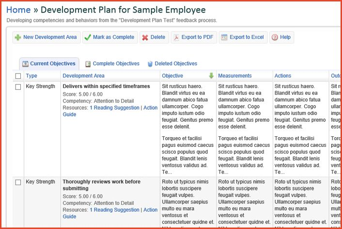 EMPLOYEE DEVELOPMENT PLAN TEMPLATE | Proposalsheet.com