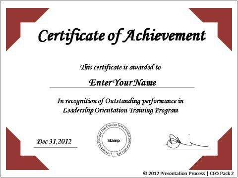 powerpoint award template create powerpoint certificate template ...