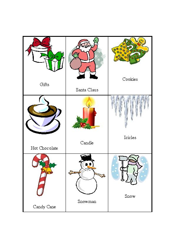 Pictionary [27 Christmas/winter Word Cards]