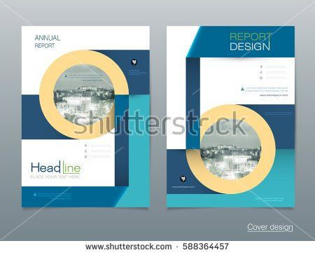 Vector Design Brochure Flyer Business Annual Stock Vector ...