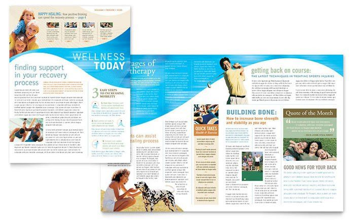 Physical Therapist Newsletter Design Template by StockLayouts ...