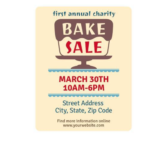 9 best Bake sale tent card images on Pinterest | Bake sale flyer ...