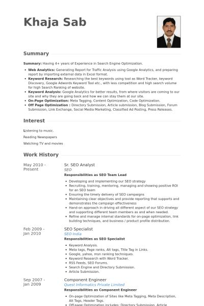 public relations analyst resume