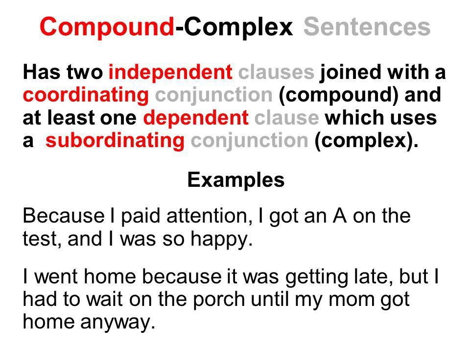 Sentence Types Sentence Structure. Simple Sentences Simple ...