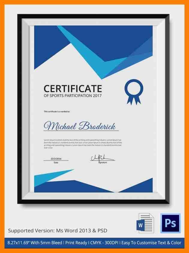 3+ sports certificate template   attendance sheet