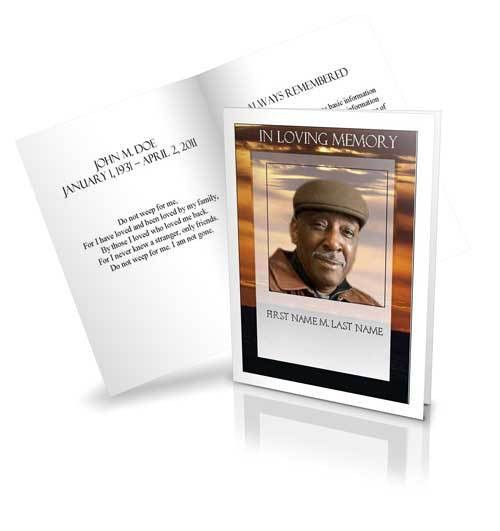 Celebration of LIfe Service Programs | Life Celebration Booklet ...