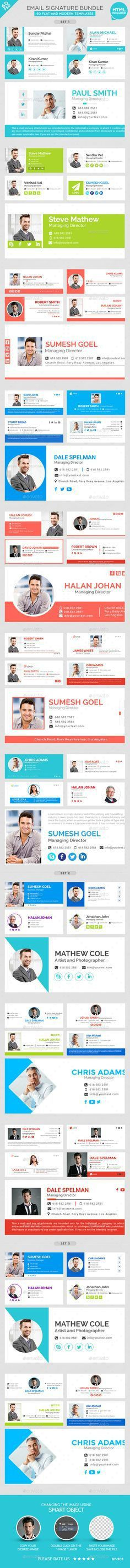 ESignatures is a collection of 20 Email PSD signatures suitable ...