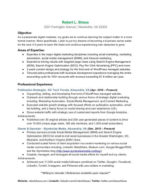 digital media resumes digital marketing resume 7 free word pdf ...