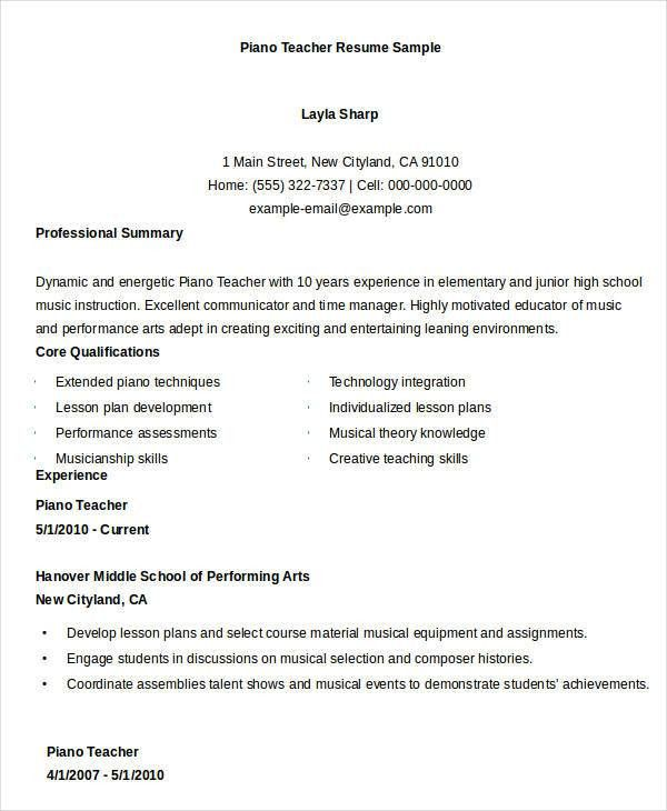 Teacher Resumes - 26+ Free Word, PDF Documents Download | Free ...