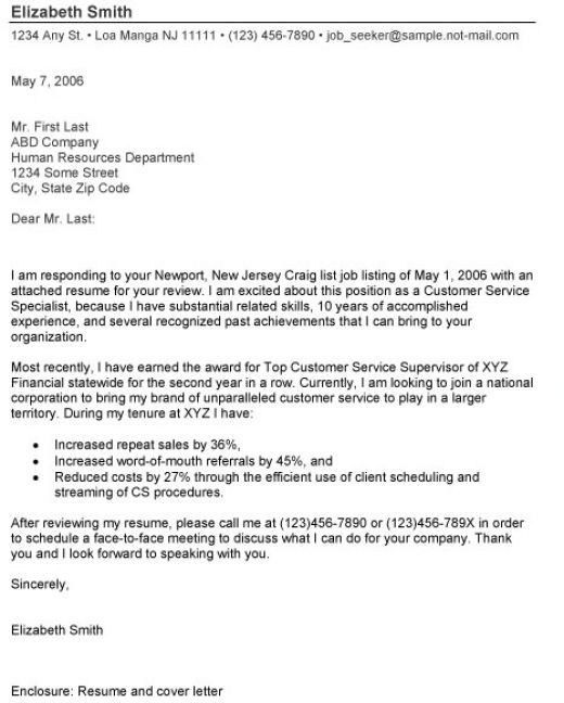Cover Letter Resume Enclosed | Best Example Of Business Template