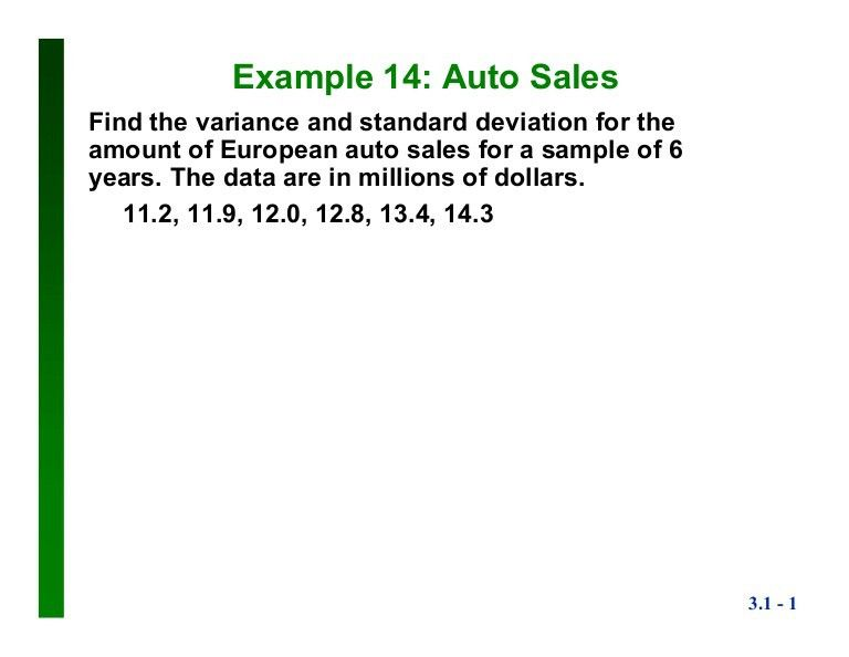 Sample Standard Deviation