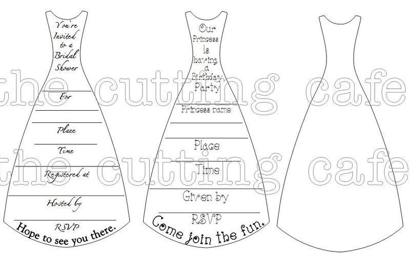 The Cutting Cafe': DRESS SHAPED CARD TEMPLATE - CUTTING FILE AND ...