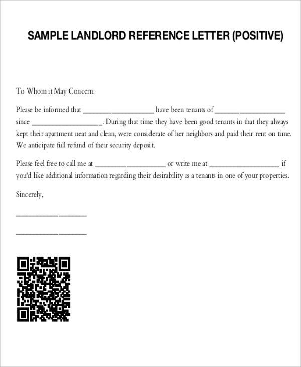 5+ Sample Tenant Recommendation Letter - Free Sample, Example ...