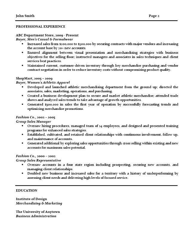 Buyer resume examples - (2017)