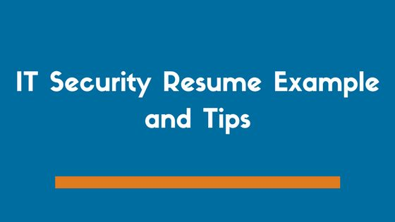 Cyber and Information Security Resume Example and Tips - ZipJob