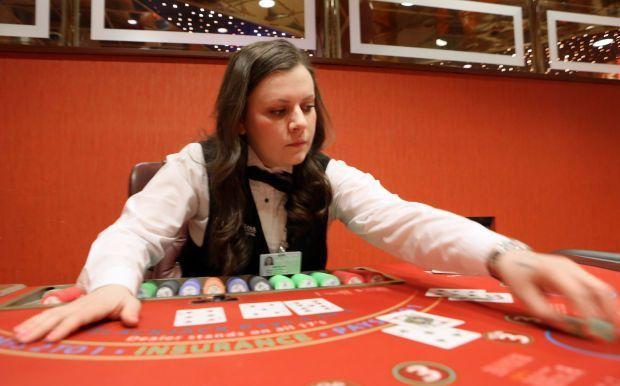 On the job: Kaitlyn Scheffel, blackjack dealer | Jobs and ...