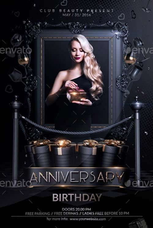 FFFLYER | Anniversary Birthday Flyer Template for Anniversary ...