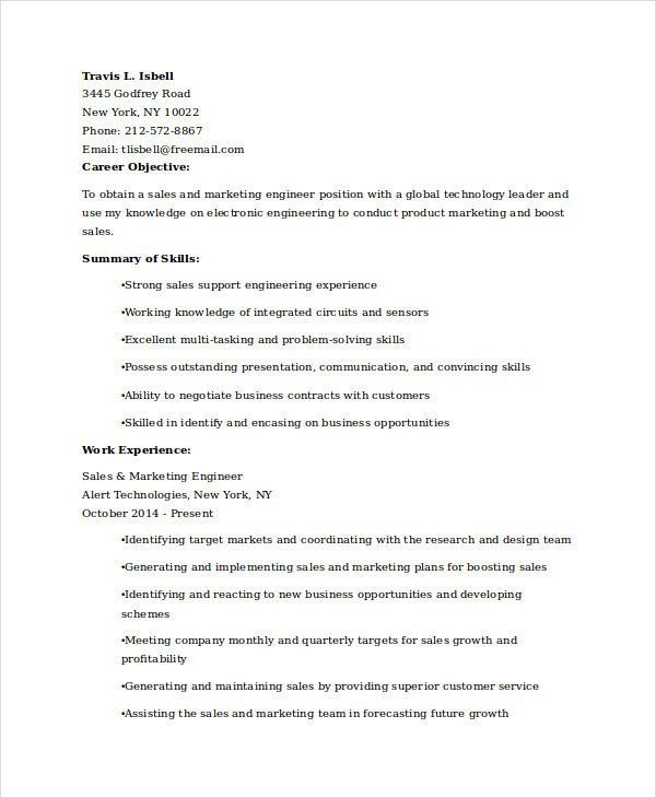 Free Marketing Resume Templates - 26+ Free Word, PDF Documents ...