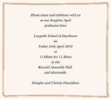 Words For Graduation Invitation - Kawaiitheo.Com