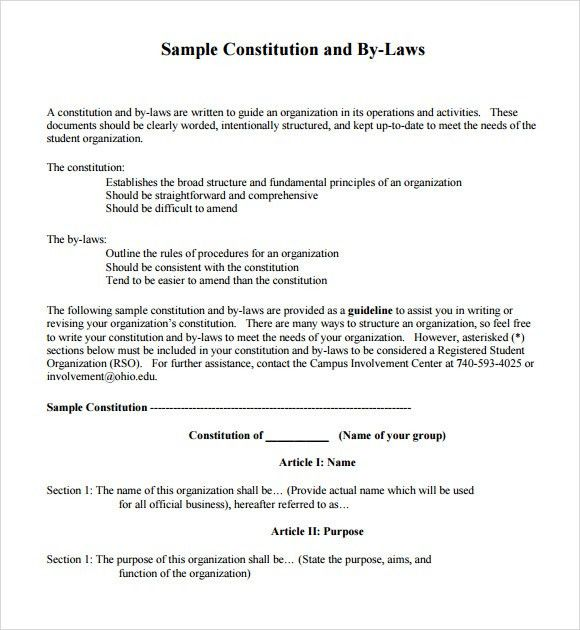 appendix h sample nonprofit corporation road association bylaws ...