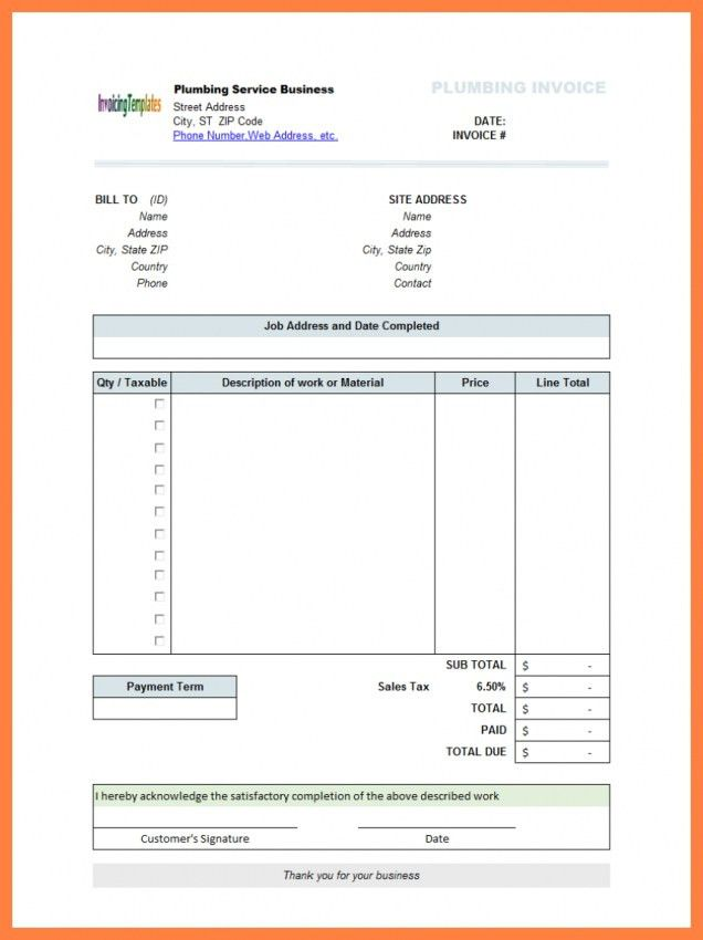 Tax Invoice Format In Excel Download   Design Invoice Template