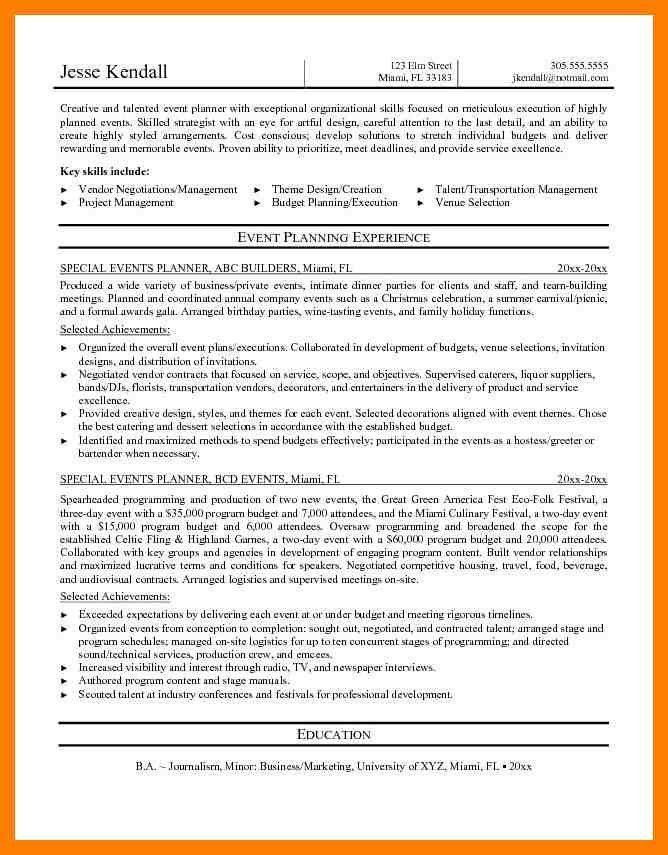 9+ event coordinator resume | cfo resumed
