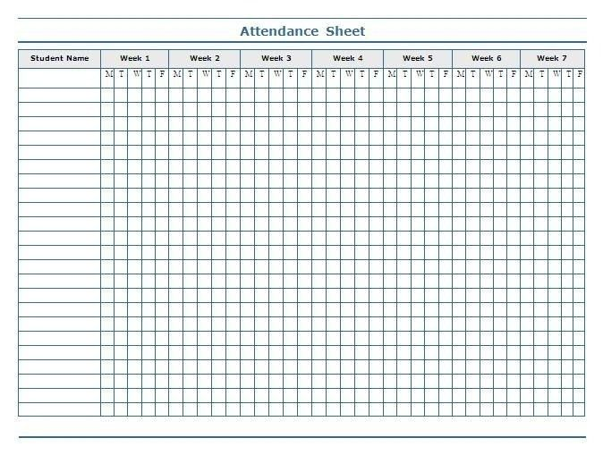Printable Attendance Sheet | shareitdownloadpc