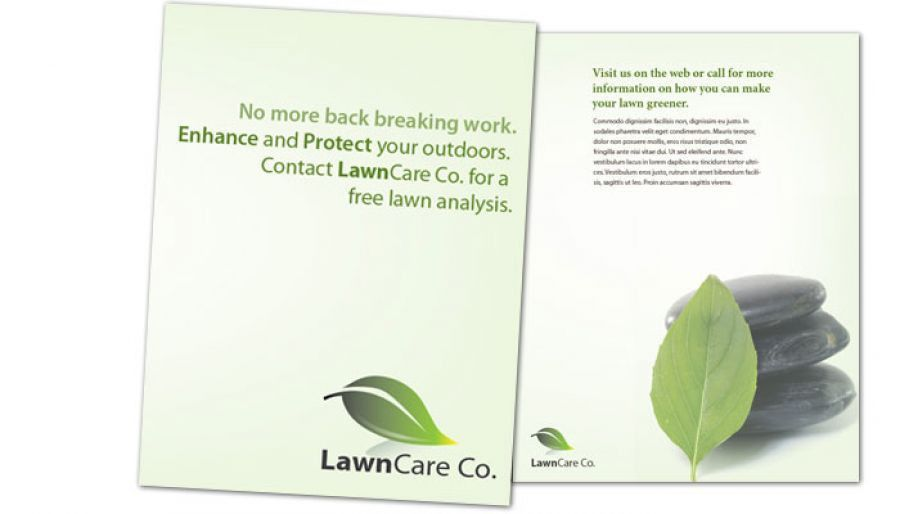 Flyer template for Lawncare Services. Order Custom Flyer design