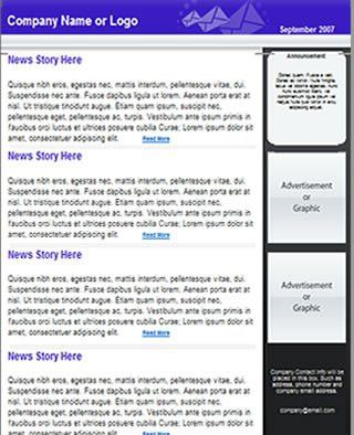 Free Newsletter Template | HTML email template - Tried & Tested ...