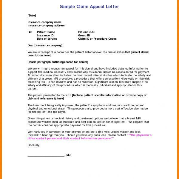 Writing Health Insurance Appeal Letter Medical Appeal Letters in ...