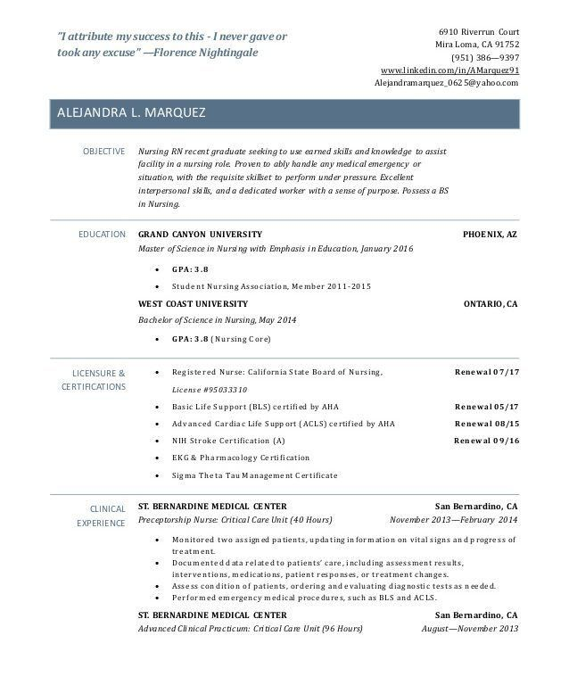 New Rn Grad Resume. free rn resume samples free resume example and ...