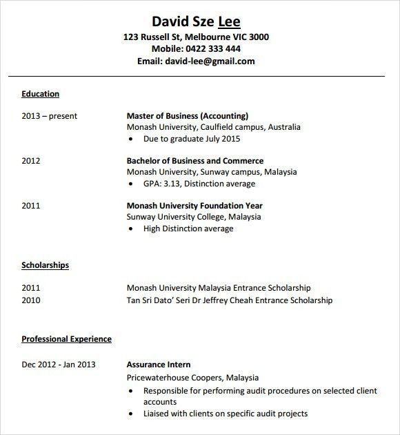 Accounting Resume - 9+ Free Samples , Examples , Format